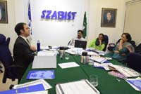Self-Institutional Performance Evaluation by SZABIST on June 25th -27th, 2018